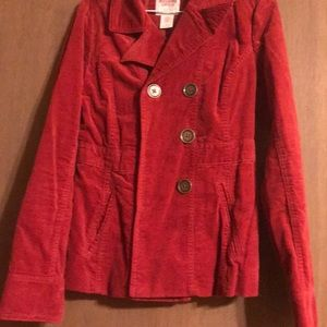 New Mossimo Supply Co Red suede utility jacket